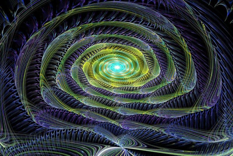 Arte finala de Abstrct Digital Tecnologias de gráficos do fractal imagens de stock