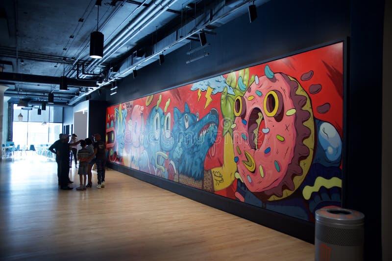 Arte finala dentro do ajuntamento Crosstown, Memphis, Tennessee imagem de stock royalty free