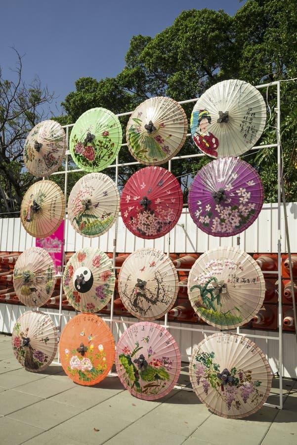 Arte finala do guarda-chuva com estilo asiático em Taiwan imagens de stock