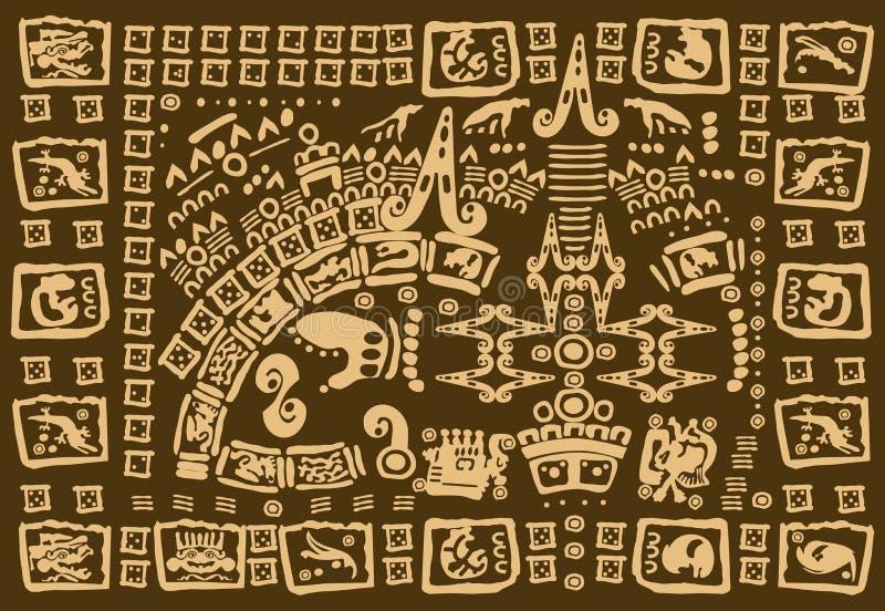 Arte finala do Maya ilustração royalty free