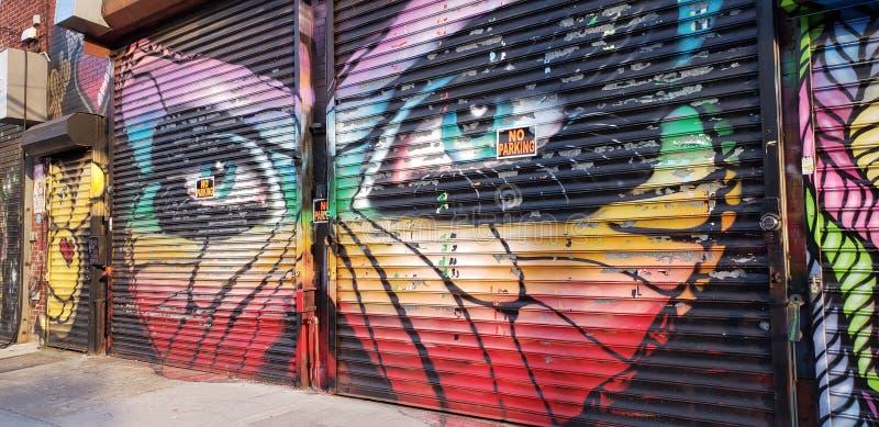 Arte finala dos grafittis de Astoria imagens de stock