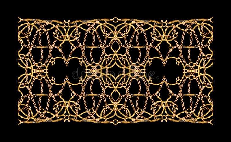 Arte finala geométrica do fundo da ilustração da cópia de matéria têxtil da queda da água ilustração stock
