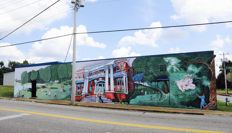 Arte finala Jackson da estrada de ferro, Tennessee foto de stock royalty free