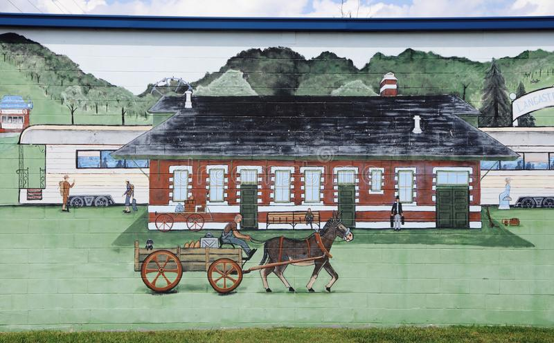 Arte finala Jackson do estação de caminhos-de-ferro, Tennessee imagens de stock royalty free