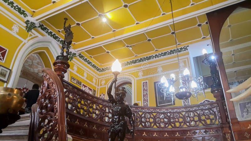 Arte finala no palácio de Banglaore, Bengaluru, Índia fotografia de stock