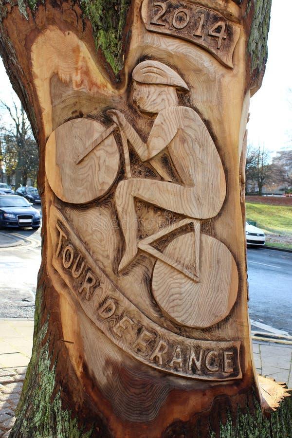 Arte finala para o Tour de France Harrogate 2014 foto de stock