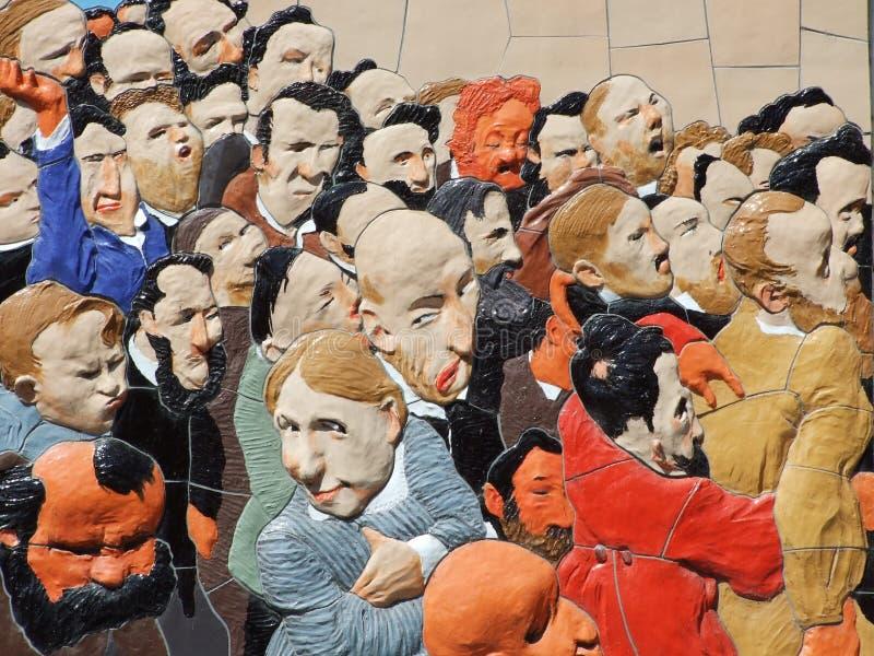 Arte finala segura na fachada de uma construção histórica na cidade de Konstanz imagens de stock royalty free