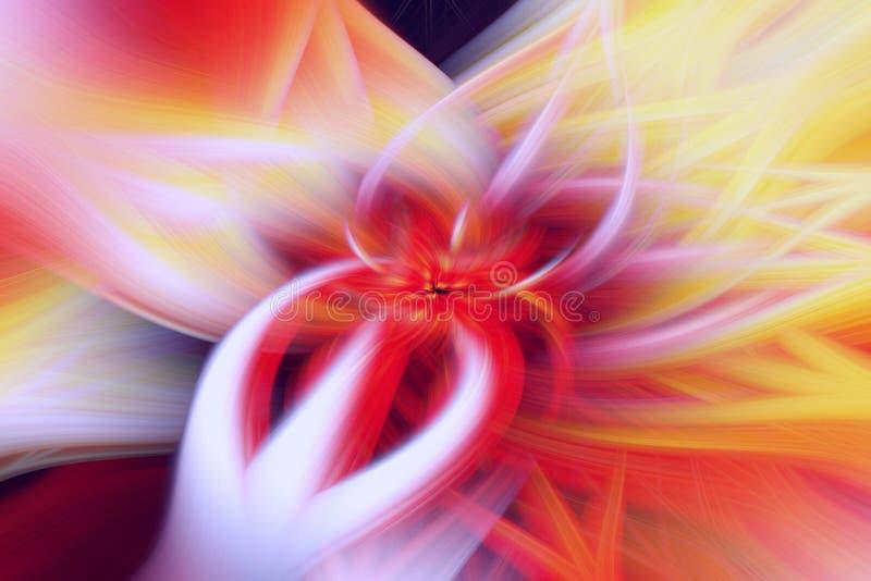 Arte floral da proemin?ncia do fundo do fractal fantasia científica ilustração do vetor