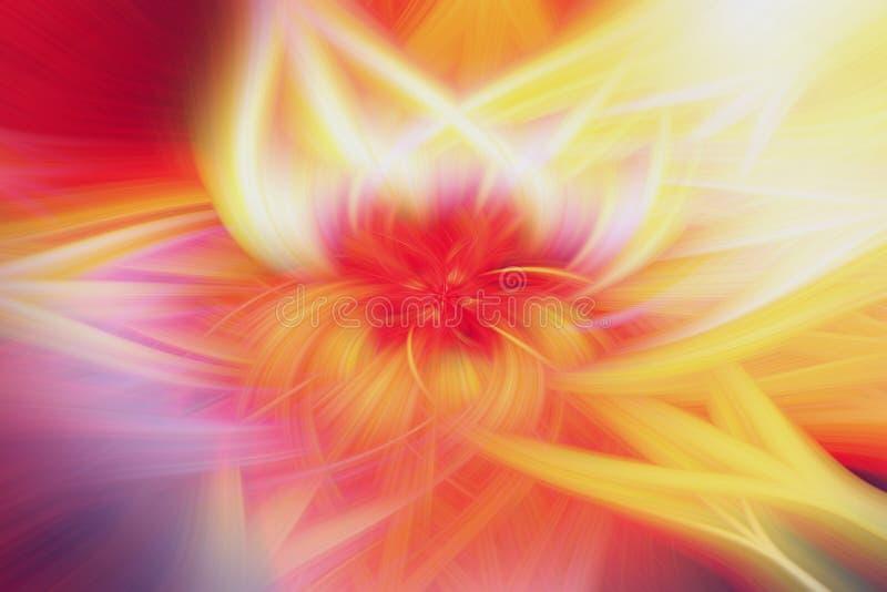 Arte floral da proemin?ncia do fundo do fractal Teste padr?o ilustração do vetor
