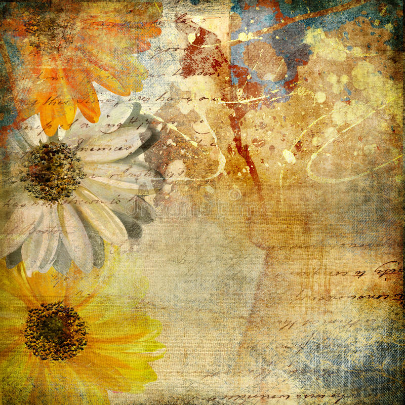 Arte floral de Gruge foto de stock