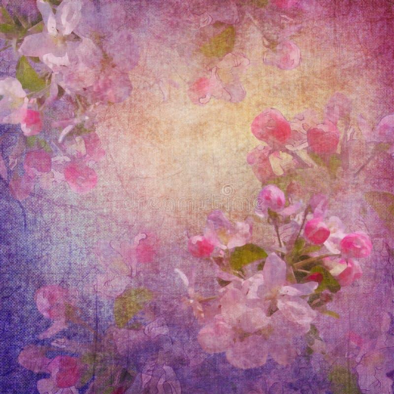 Arte floral del estilo de la pintura libre illustration