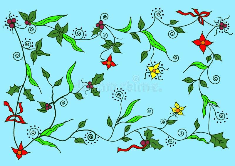 Arte floral ilustrado fondo ilustración del vector