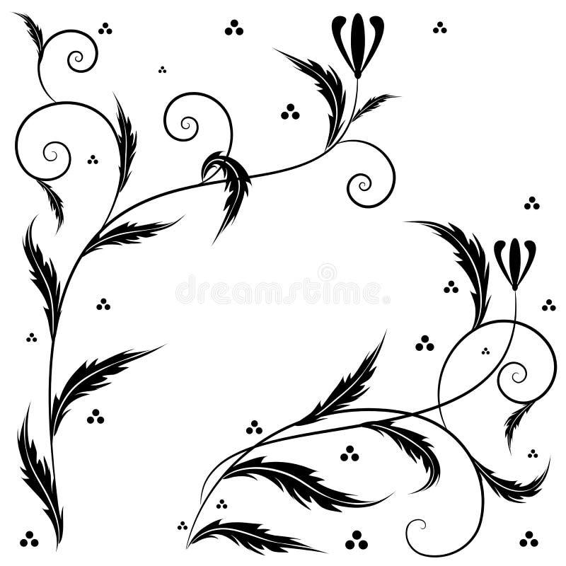 Arte floral retro ilustración del vector