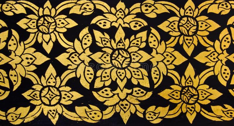 Arte floral tailandesa tradicional do teste padrão foto de stock royalty free