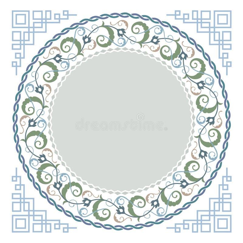 Arte floreale islamica royalty illustrazione gratis