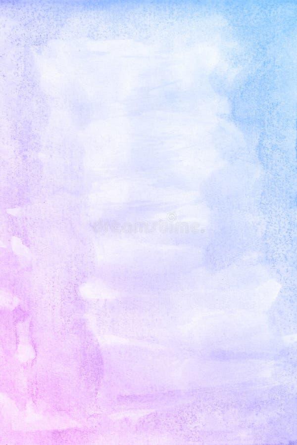 Arte Fondo de la acuarela Onda azul hermosa fotografía de archivo libre de regalías