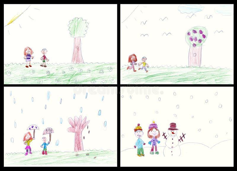 Arte genuina del bambino royalty illustrazione gratis
