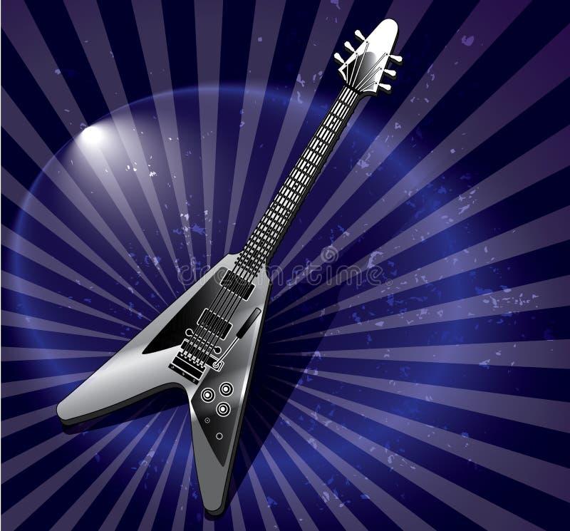 Arte-gitarre des Fliegens V lizenzfreie stockfotografie