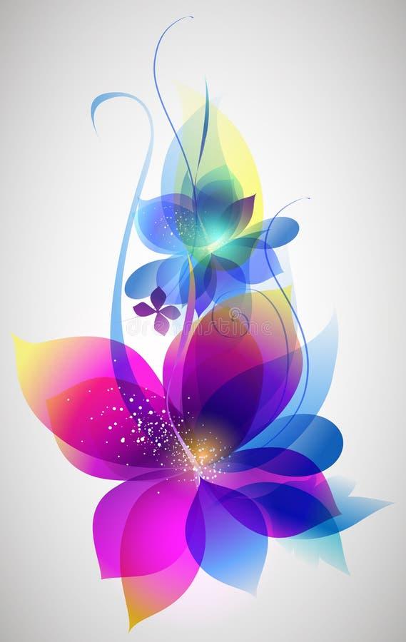 Arte hermoso del fondo de la flor del vector ilustración del vector