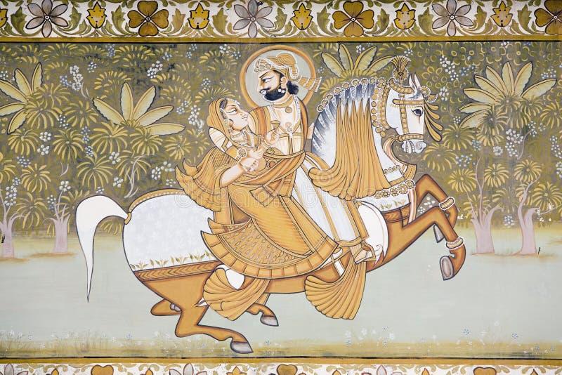 Arte indio de la pared stock de ilustración