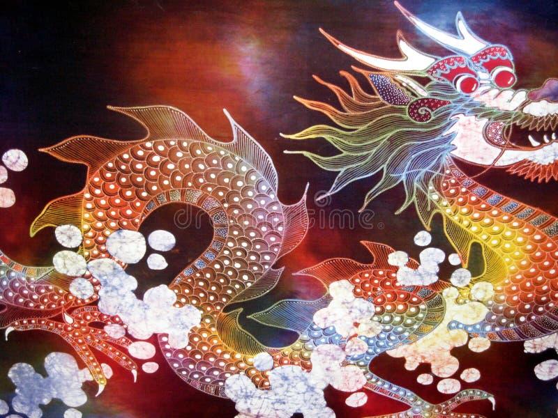 Arte indonesiana - drago illustrazione di stock