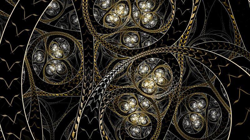 Arte infinito del fractal del estilo de Circural foto de archivo