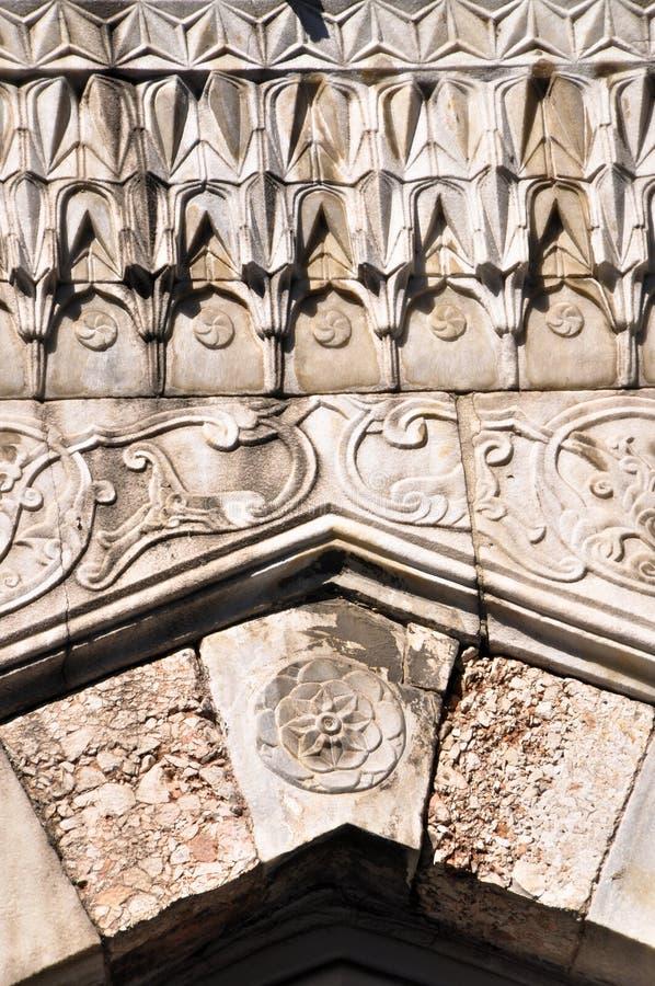 Arte islámico de los adornos de la arquitectura, Estambul Turquía imagenes de archivo