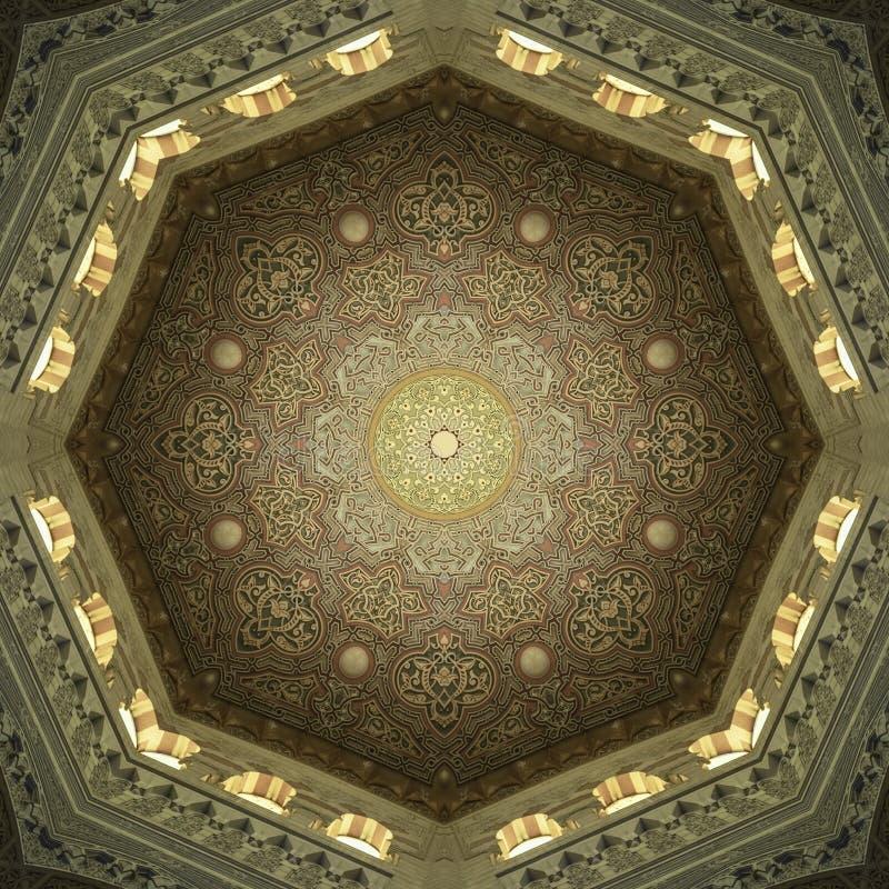 Arte islâmica decorativa do teto fotografia de stock royalty free