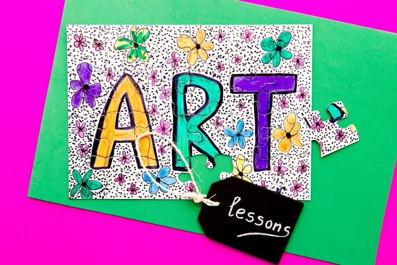Arte - lezioni immagine stock