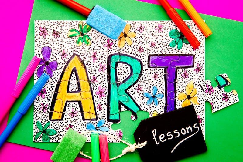 Arte - lezioni immagini stock libere da diritti