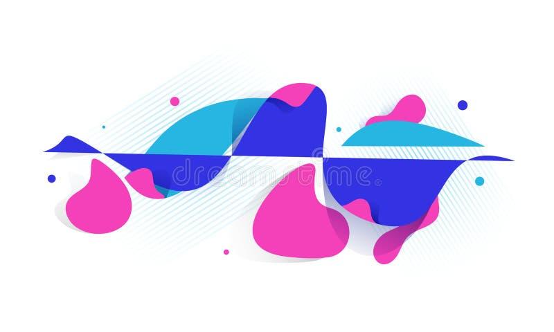 Arte lisa do líquido do estilo ou sumário geométrico líquido ilustração royalty free