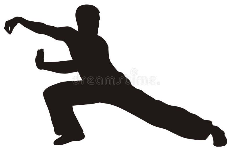 Arte marcial ilustração stock