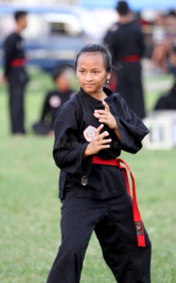 Arte marcial del Javanese foto de archivo