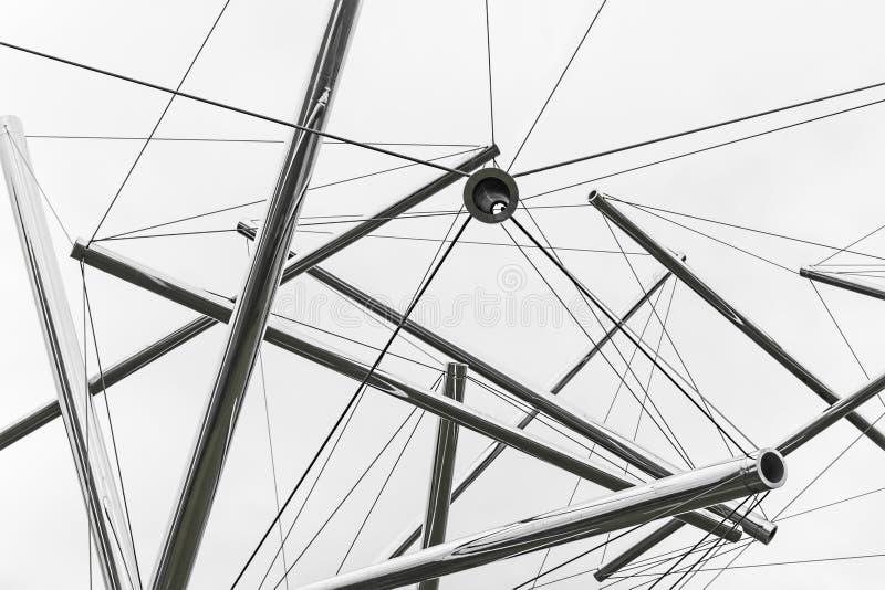 Arte moderna da tubulação fotografia de stock