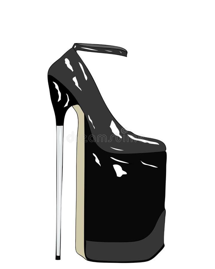 Arte moderna - tributo às sapatas das mulheres ilustração do vetor