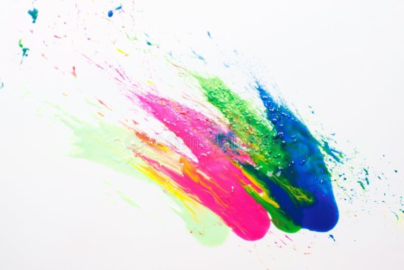 Arte moderno abstracto Explosión del color del holi del festival fotos de archivo libres de regalías