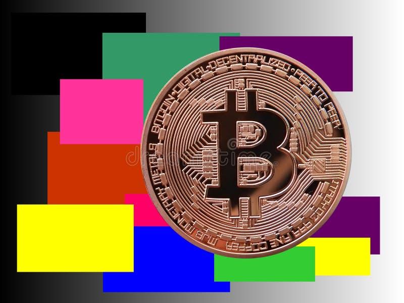 Arte moderno de Bitcoin libre illustration