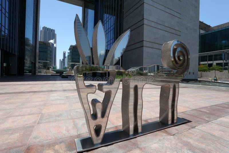 Arte moderno en Dubai imagen de archivo libre de regalías