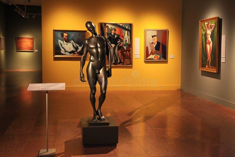 Arte moderno en National Gallery húngaro en Buda Castle Royal Pa imagen de archivo libre de regalías