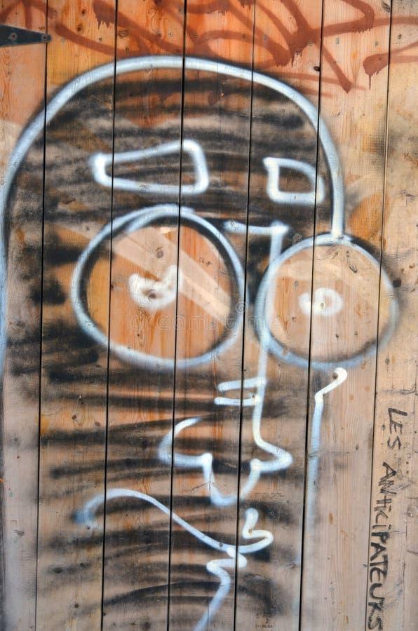 Arte Montrea della via immagine stock