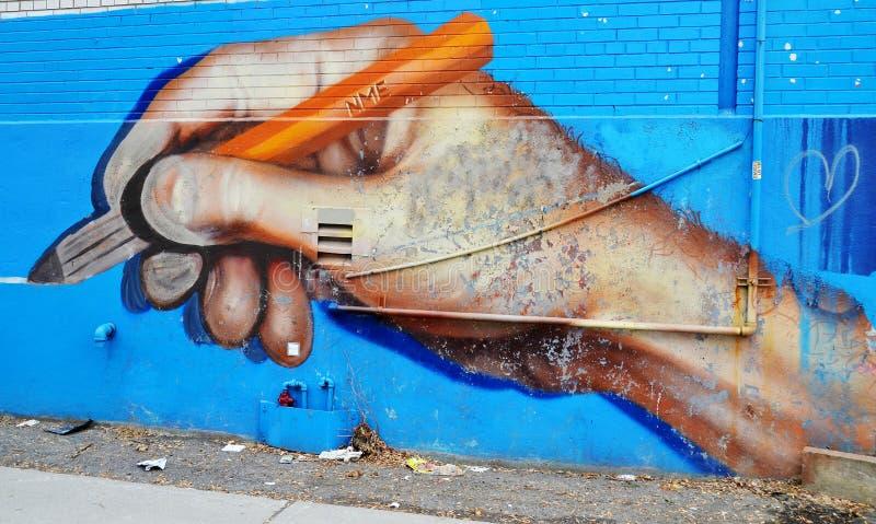 Arte Montreal de la calle fotografía de archivo