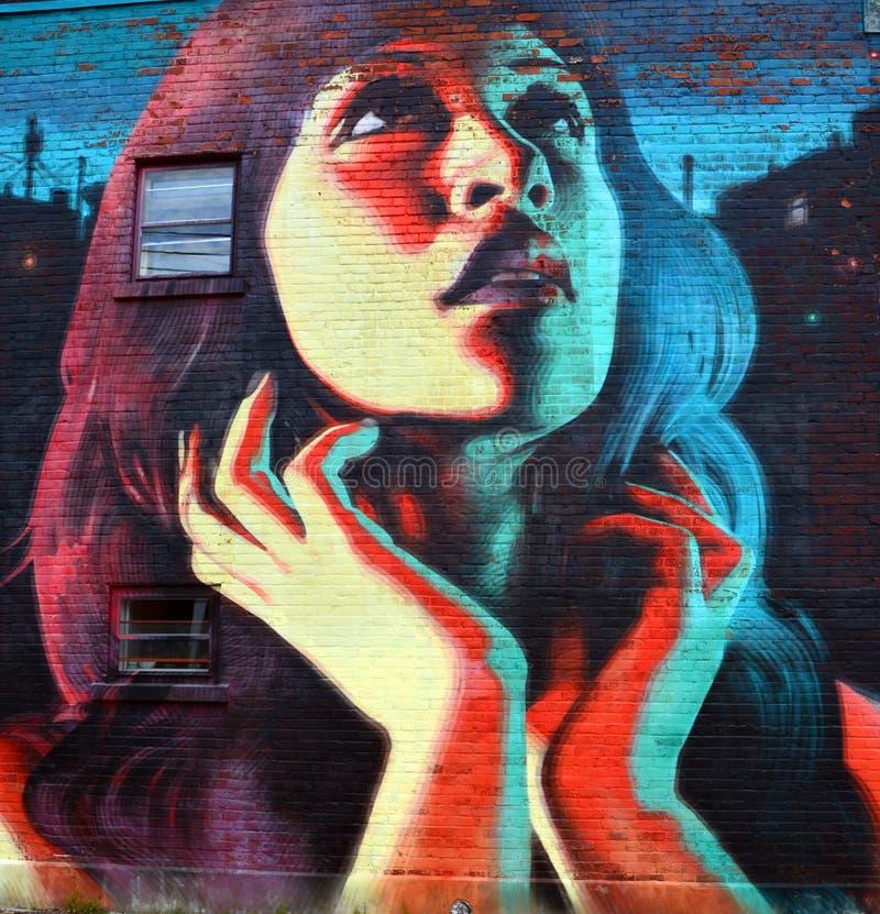 Arte Montreal della via fotografie stock
