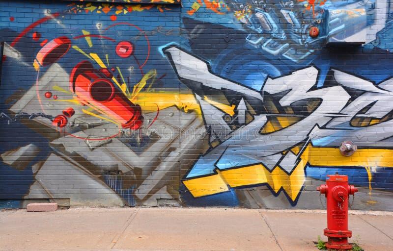 Arte Montreal della via immagine stock libera da diritti