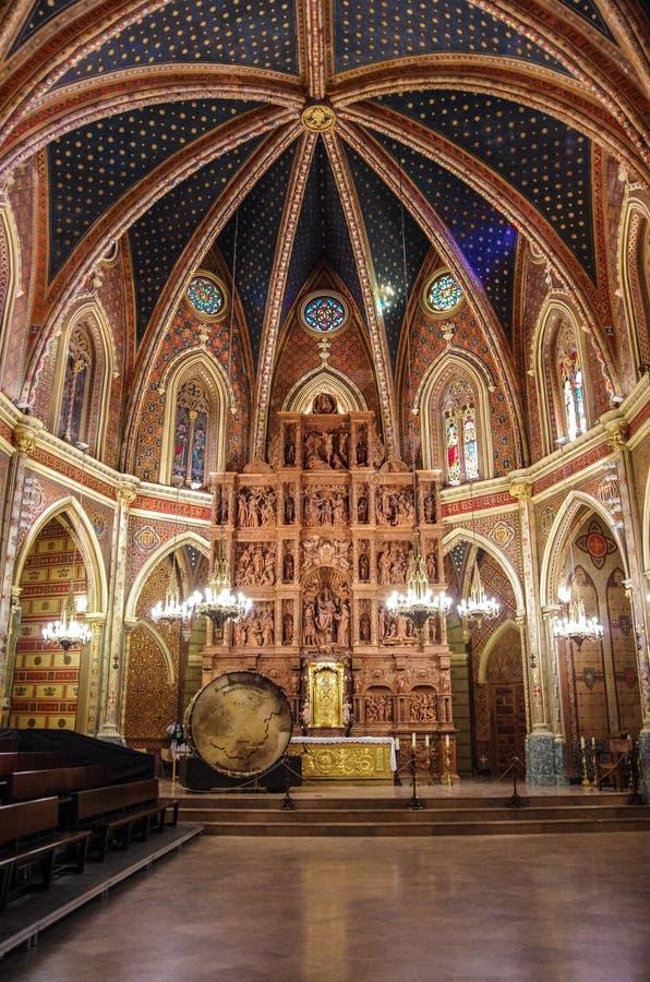 Arte Mudejar em Teruel Igreja interior de San Pedro, herança da Espanha imagens de stock royalty free