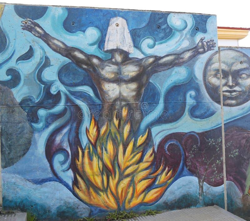 Arte mural em Ushuaia, Argentina imagem de stock
