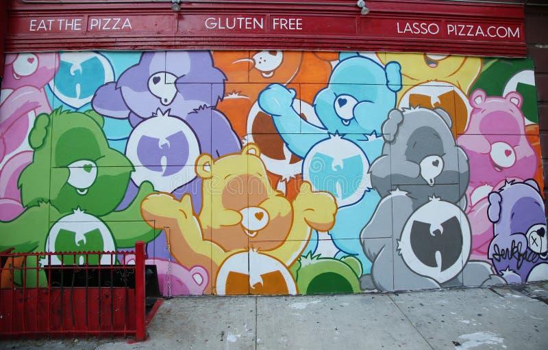 Arte mural na mais baixa zona leste em Manhattan foto de stock