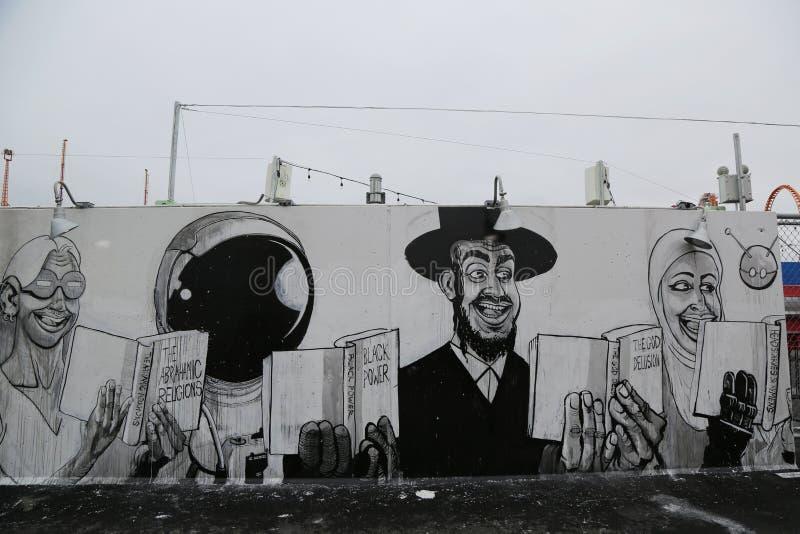 Download Arte Mural Na Pele De Coelho Nova Art Walls Da Atração Da Arte Da  Rua