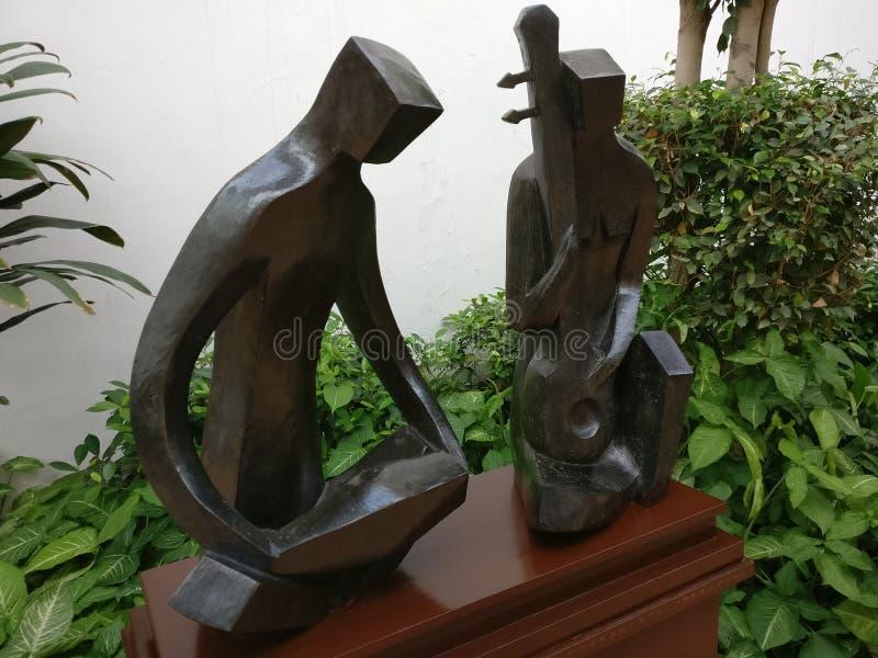 Arte musical das estátuas fotos de stock