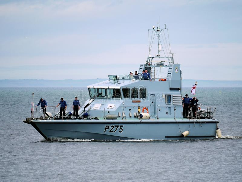 Arte naval del asaltante entrenado para la lucha cuerpo a cuerpo del HMS imagenes de archivo