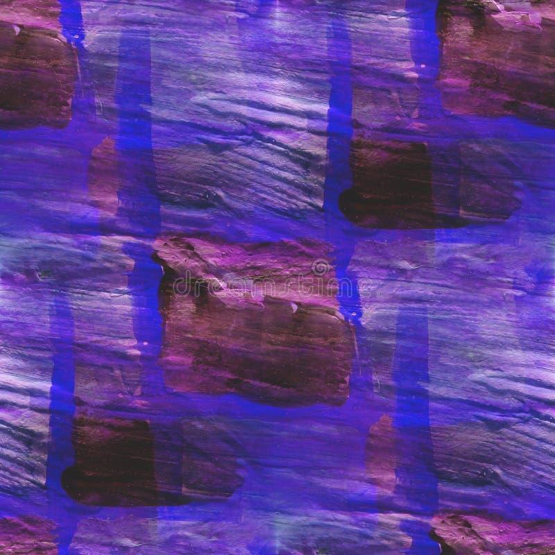 Arte negro púrpura de la acuarela del ornamento del fondo foto de archivo libre de regalías